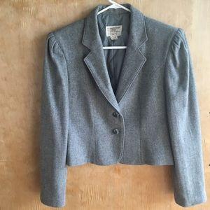 COPY - Gray Vintage Wool Blazer slight Puff Shoul…